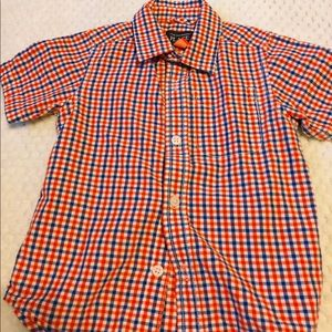 boys blue and orange button down !:)